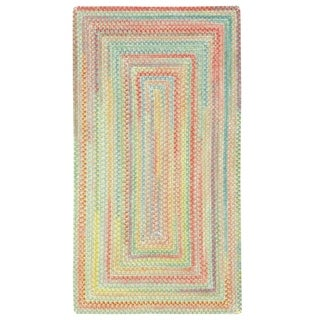 Capel Rugs Cutting Garden Light Parakeet Concentric Braided Rugs (2'3 x 9')