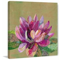 'Lotus in Bloom' Painting Print on Wrapped Canvas