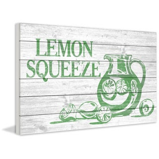 Marmont Hill - Handmade Lemon Squeeze II Painting Print on White Wood