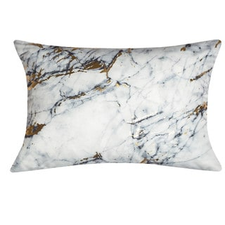 Edie At Home Precious Metals Digital Printed Canvas Pillow Marble 14x20 Inch