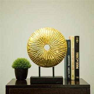 Glitzhome Glam Brass Painted Sunburst Table Decor