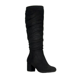 Refresh FP00 Women's Side Zip Under Knee High Slouchy Boots