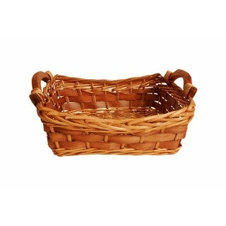 """Wald Imports Brown Willow and Woodchip 12"""" Decorative Storage Basket"""