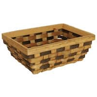 Wald Imports Brown Woodchip Decorative Storage Basket