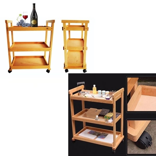 Portable Art Tool Rolling Storage Cart Wheels Trolley Kitchen Home