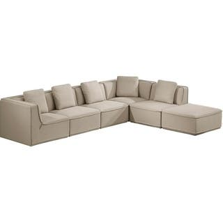 Shop Roanoke Classic Beige 5-piece Sectional Sofa with ...