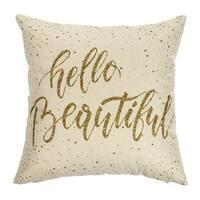 Cotton Linen Pillow Case Hello Beautiful 18 x 18