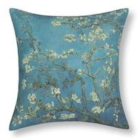 Cotton Linen Pillow Case Van Gogh Almond Blossom 18 x 18