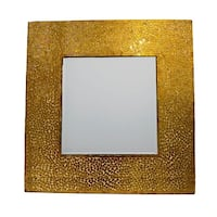 Enchanting Square Mosaic Patented Mirror, Gold - N/A