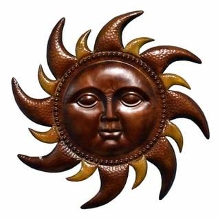 Vivacious Metal Sun Wall Decor , Bronze