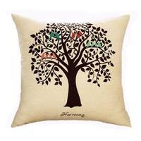 Cotton Linen Pillow Case Harmony Tree 18 x 18