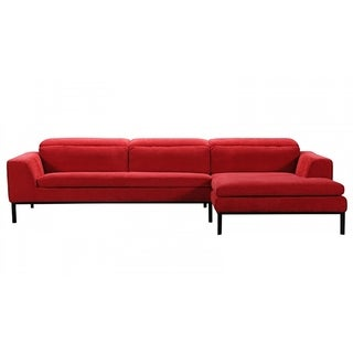 Manlius Classic Red Fabric Sofa with Right Facing Chaise  sc 1 st  Overstock : red chaise sofa - Sectionals, Sofas & Couches
