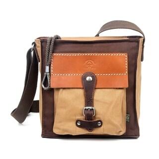 TSD Brand Hidden Woods Canvas Crossbody Handbag