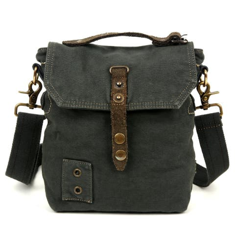 TSD Brand Coastal Canvas Crossbody Handbag