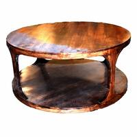 Well-designed Round Wooden Coffee Table, Brown