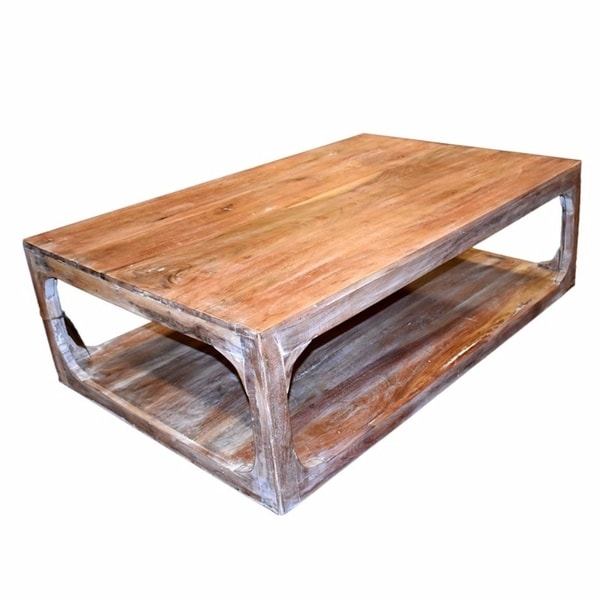 Vintage Style Wooden Coffee Table, Brown