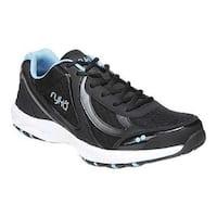 Women's Ryka Dash 3 Walking Shoe Black/Meteorite/Blue Leather