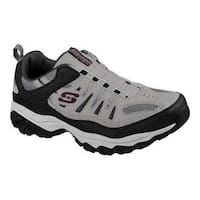 Men's Skechers After Burn M. Fit Slip-On Walking Shoe Gray/Black