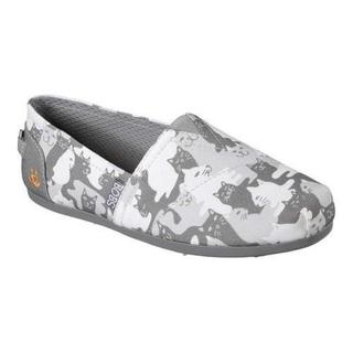 Women's Skechers BOBS Plush Cat-Mouflage Alpargata Gray