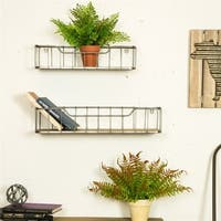 Glitzhome Farmhouse-Pack 2 Wall Shelf Garage Storage Rack Floating Shelves