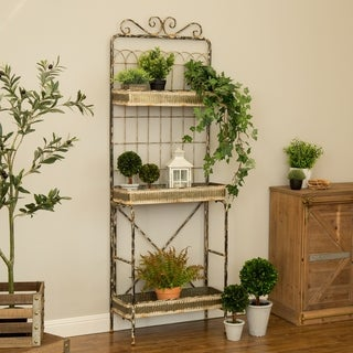 "Glitzhome 68""H Farmhouse Metal Shelf"