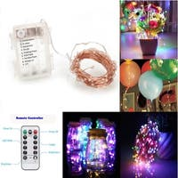 MultiColor 100 LED Copper Wire Dimmable Light String Remote Control