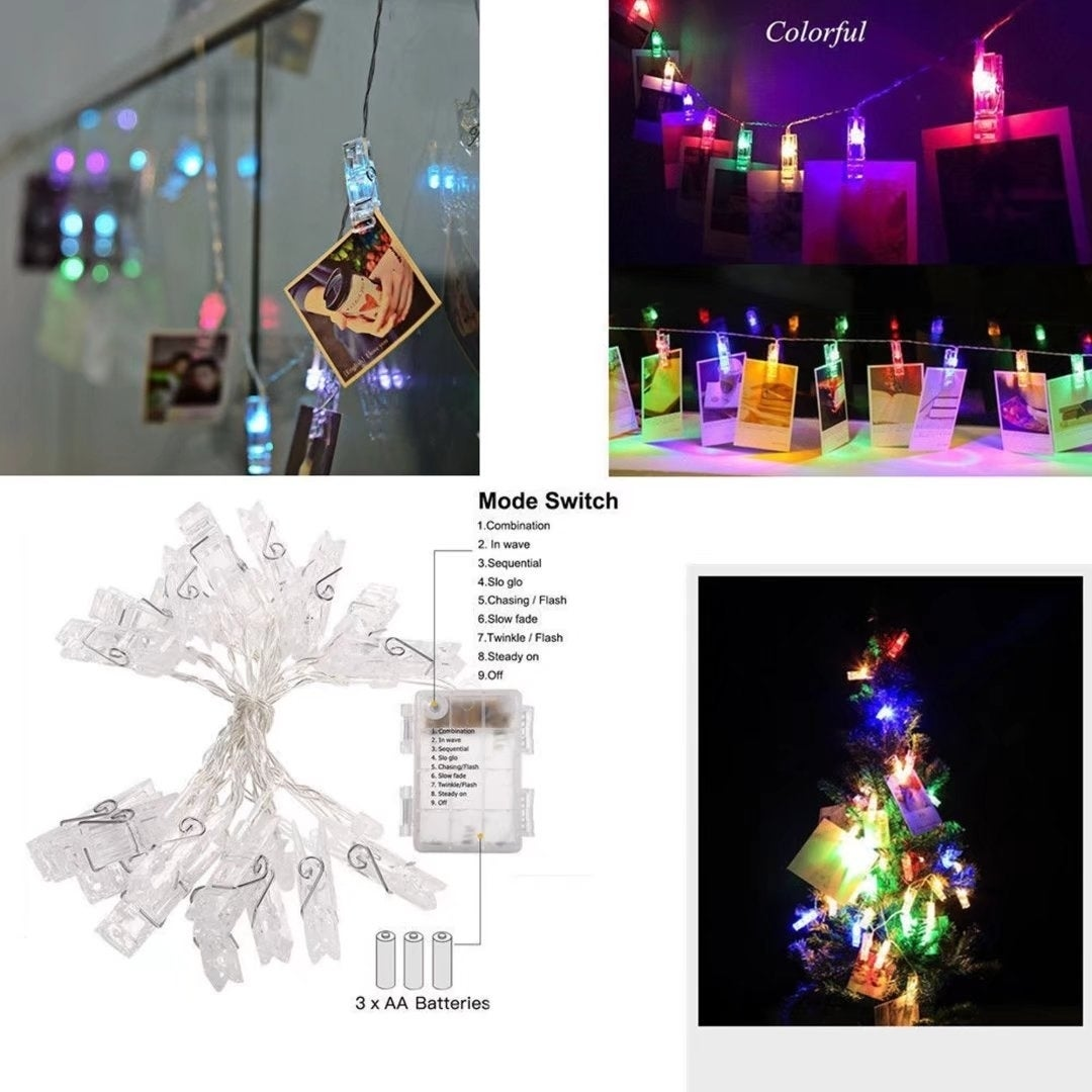 2M LED Card Photo Holder Lights Party Wedding Home Christ...