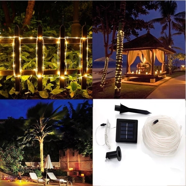 40ft Outdoor Fairy String Rope Light Solar Controller Waterproof Free Shipping Today 19288182