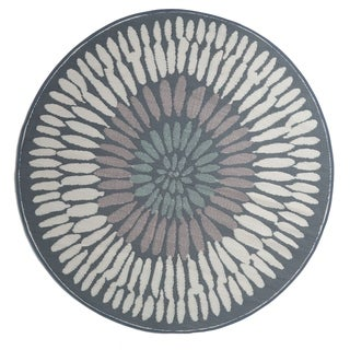 Handmade Azores Indoor/Outdoor Recycled Plastic Rug (India) - 6' Round