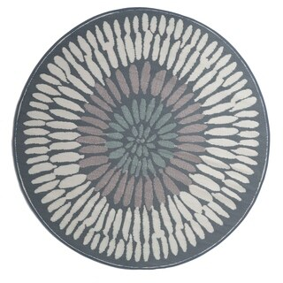 Fab Habitat Indoor/Outdoor Recycled Plastic Rug - Azores - Round Gray - 6'