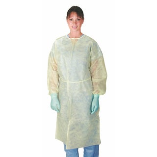 Medline Isolation Gown Spunbond XL YE (Pack of 50)