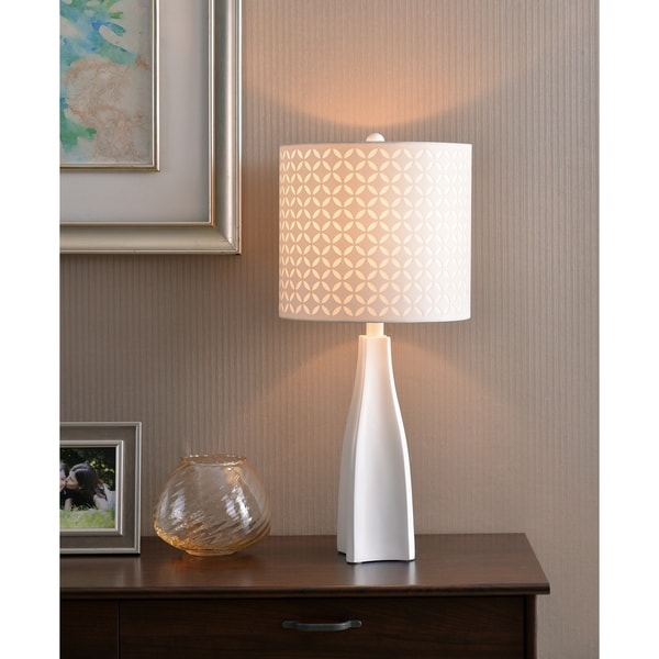 "Design Craft Bardot 29"" Table Lamp - White"