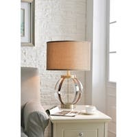 """Design Craft Ethan 26"""" Glass and Antique Brass Table Lamp"""