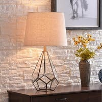 "Design Craft Raegan 26.5"" Burnished Antique Metal Table Lamp"