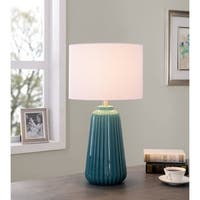"Design Craft Nico 26.75"" Table Lamp - Glossy Teal Ceramic"