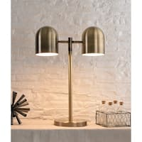 "Design Craft Kora 24"" Antique Brass Table Lamp"