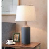"Design Craft Kendall 25.5"" Matte Gray Ceramic Table Lamp"