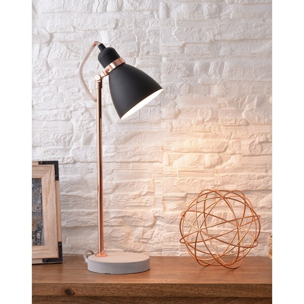 "Design Craft Lola 21.5"" Table Lamp - Black and Copper"