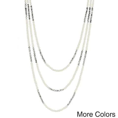 Handmade Saachi 3 Layer Pearl Necklace (China)