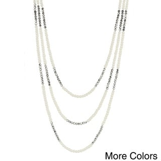 Handmade Saachi 3 Layer Pearl Necklace (China)