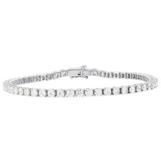 H Star Sterling Silver Diamagem Tennis Braclet
