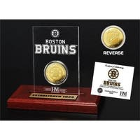 Boston Bruins 6-Time Stanley Cup Champions Gold Coin Etched Acrylic - Multi
