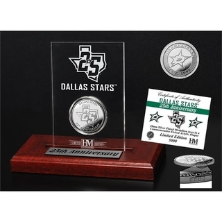 Dallas Stars 25th Anniversary Silver Coin Etched Acrylic - Multi