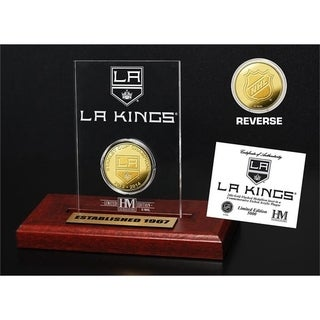 Los Angeles Kings 2-Time Stanley Cup Champions Gold Coin Etched Acrylic - Multi