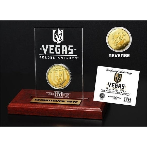 Vegas Golden Knights Gold Coin Etched Acrylic - Multi