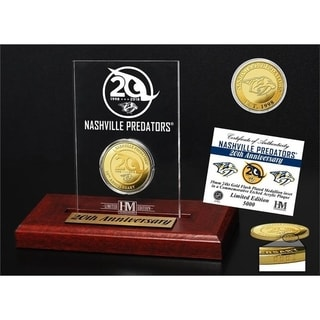 Nashville Predators 20th Anniversary Gold Coin Etched Acrylic - Multi