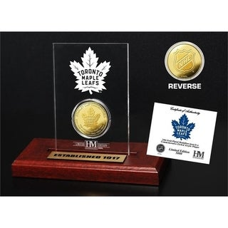 Toronto Maple Leafs 13-Time Stanley Cup Champions Gold Coin Etched Acrylic - Multi