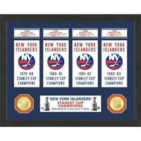 New York Islanders Stanley Cup Banner Collection Photo Mint - Multi