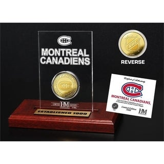 Montreal Canadiens 24-Time Stanley Cup Champions Gold Coin Etched Acrylic - Multi