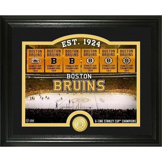 "Boston Bruins ""Rink"" Bronze Coin Photo Mint - Multi"